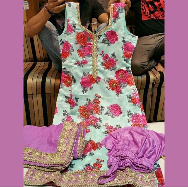 Love this floral piece for summer! Suit by Phulkari Couture.