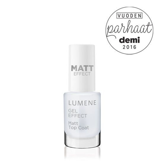 The best nail polish of the year: Lumene Gel Effect Matt Top Coat / 2016 Best of Beauty by Demi Magazine