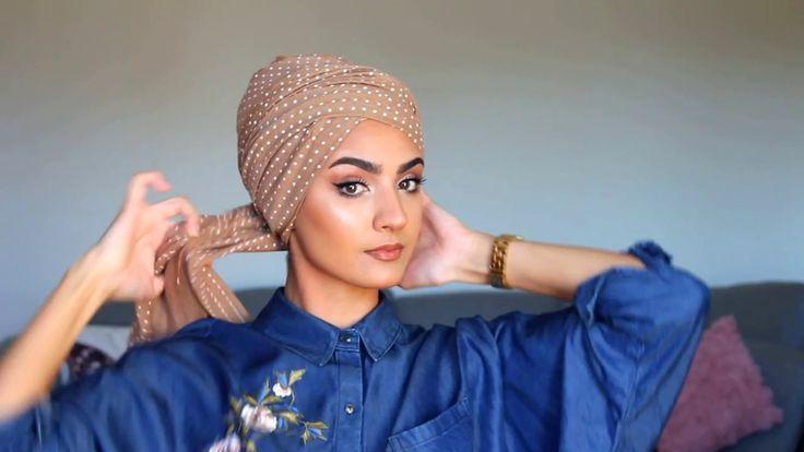 Simple turban tutorial with Roua - YouTube