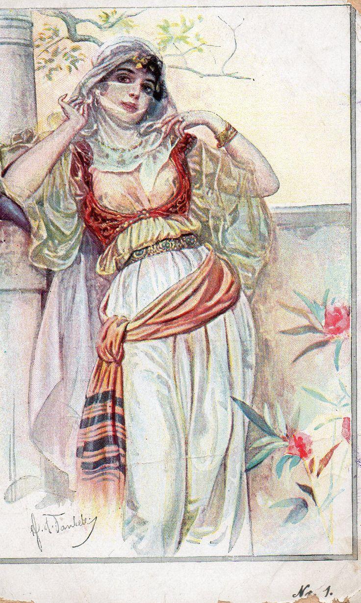 'Türkische Frauen Nr.20.' German postcard. 1918.