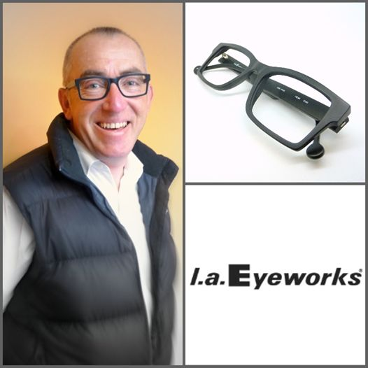 """Photo: How do you create a subtle balance between rock n' roll and elegance, between character and restraint?   Neal shows us how it's done with this matt black l.a.Eyeworks """"Hemi"""", an up-to-the-minute model that is classic, easy wearing, modest, elegant and very masculine.  #Kuske #KuskeEyewear #Nelson #laEyeworks #hemi #masculine #gigatownnsn #latenightonhardy"""