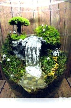 Small Indoor Fountains And Waterfalls Fairy Garden Diy Miniature Garden Garden Terrarium