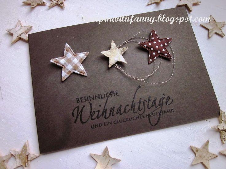 stampin with fanny: Schnelle Weihnachtskarte & weiße Adventsdeko