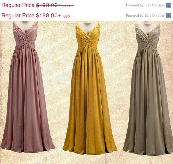 On sale tailor Bridal dress FORMAL dress A-line chiffon dress prom dress with straps  Custom 120 colors Any size on Etsy, $118.80