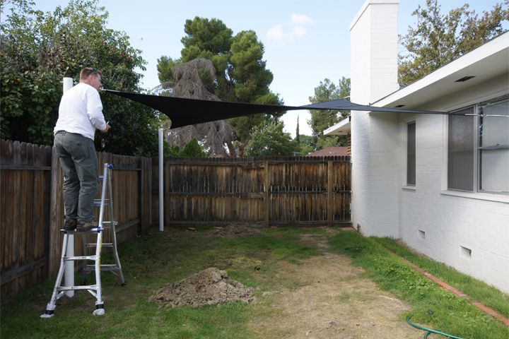 Installing A Shade Sail Gardening And Backyard Pinterest