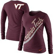 Nike Virginia Tech Hokies Ladies Angled Script Long Sleeve T-Shirt - Maroon