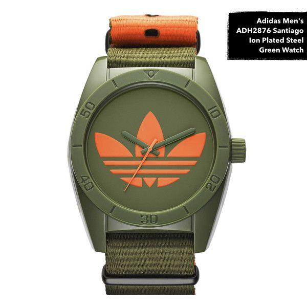 Men's Santiago Ion Plated Steel Green Watch