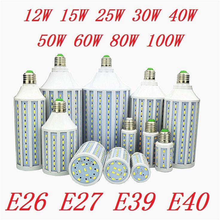 2pcs LED Bulbs Lamp E27 E26 E39 E40 5730 Corn Spot Lights 12W 15W 25W 30W 40W 50W 60W 80W 100W Lampada 110V 220V Cold Warm White #Affiliate