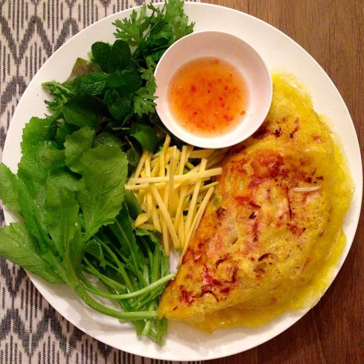 The Spices Of Life . . .: Bánh Xèo (Sizzling Savory Crepe)