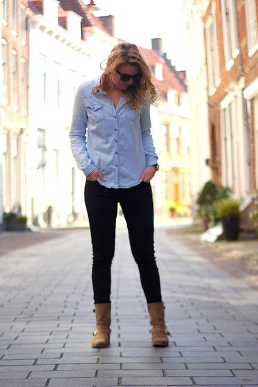 Forever 21 Blouse, Primark Trouser, Manfield Ankle Boots, H&M Sunglasses