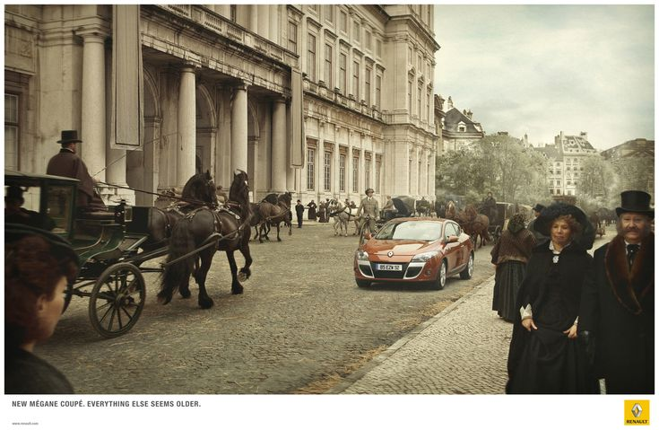 New Mégane coupé, everything else seems older.