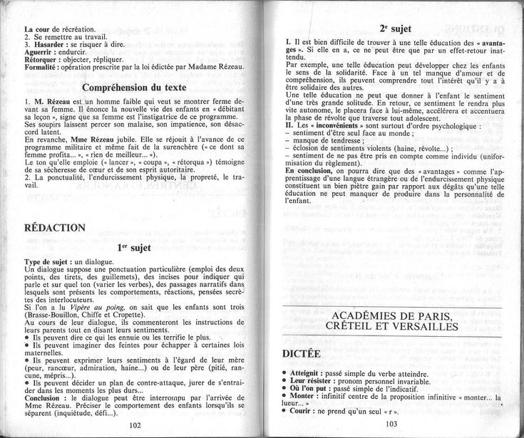 Brevet des collèges Français 1988 | Bullet journal, Journal
