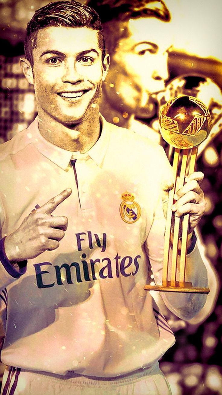 Cristiano Ronaldo dos Santos Aveiro GOIH, ComM is a Portuguese professional footballer who plays as a forward for Spanish Club Real Madrid and the Portugal national team. Born: 5 February 1985 (age 32), Hospital Dr. Nélio Mendonça, Funchal, Portugal Height: 1.85 m Salary: 32 million EUR (2016) Children: Cristiano Ronaldo Jr., Eva Maria Dos Santos, Mateo Ronaldo Awards: Ballon d'Or, FIFA World Player of the Year, MORE Did you know: Cristiano Ronaldo has the fifth-most international goals