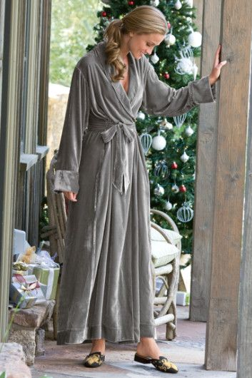 Silk Velvet Robe I - Set-in Back Waistband 395267420c