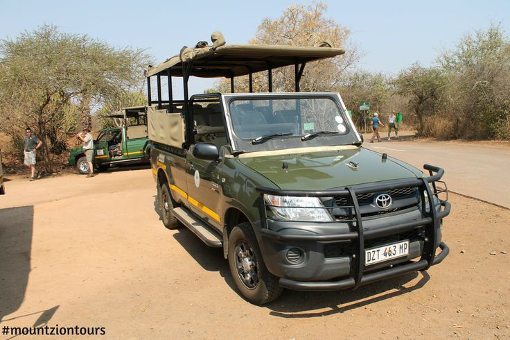 Sunset open vehicle #gamedrives in the #KrugerPark with #mountziontours. Book with us now!