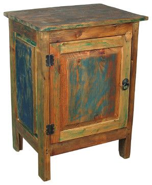 multi colored painted furniture. painted wood 1 door nightstand multicolor nightstands and bedside tables multi colored furniture