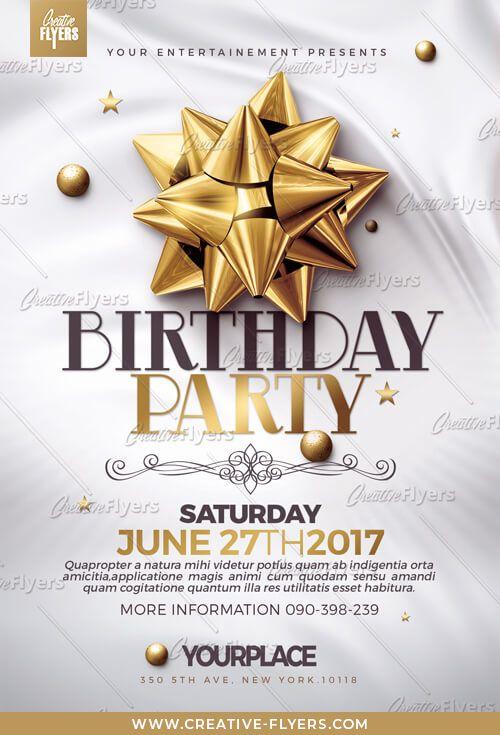 classy birthday flyer psd templates poster pinterest free