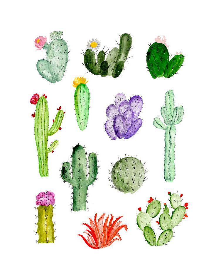 watercolor cacti!