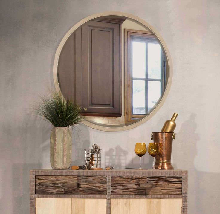 lowest price on hillsdale round taupe mirror shop today