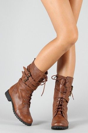 <3 combat boots: Shorts Boots, Brown Combat Boots, Boots Women, Cheap Shoes, New Fashion, Brown Boots, Combat Boots Looks, Military Mid, Mid Calf Boots
