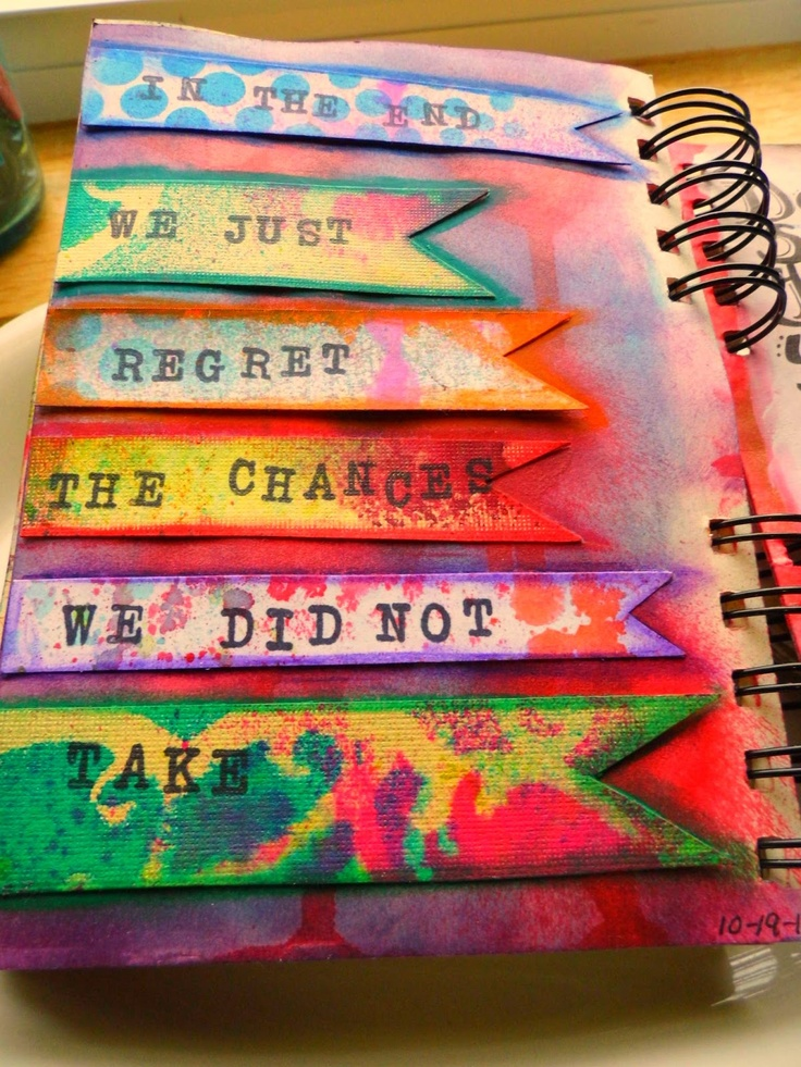 I love the way she did the quote. Morning Sun Studio | art journal page ideas | Art journal inspiration, Art journal techniques, Art journal pages