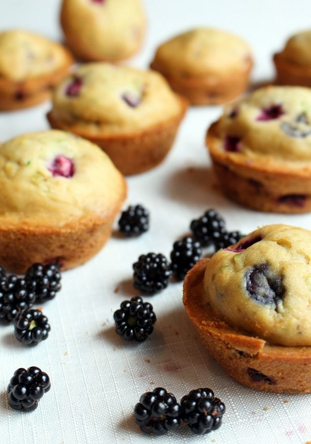 Yummy fresh blackberries and zucchini from the garden. A great new muffin for breakfast or any occasion!
