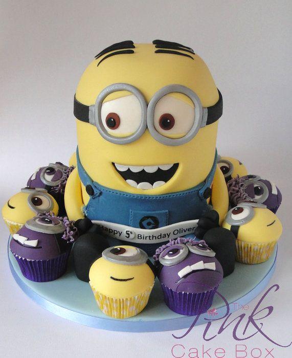 Dave the Minion! - by RoseAtThePinkCakeBox @ CakesDecor.com - cake decorating website