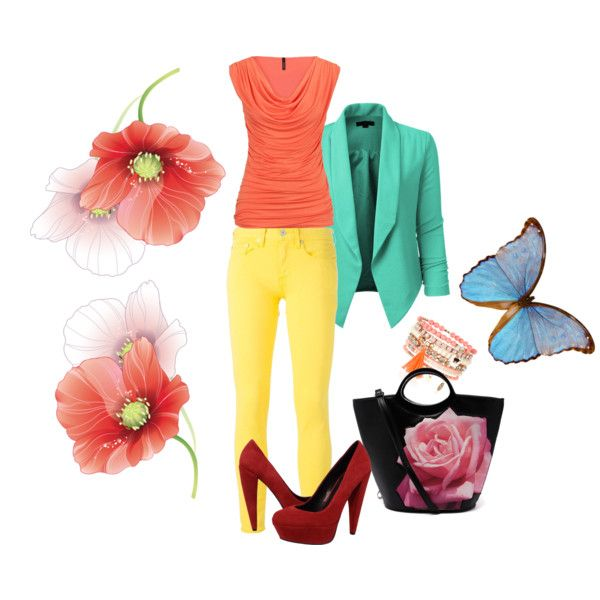 Spring in the color by skezjablog on Polyvore featuring moda, maurices, Polo Ralph Lauren, Dolce Vita and Monsoon