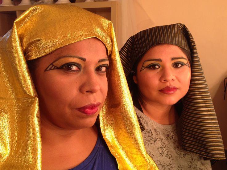 Maquillaje egipcia. Ojo de pez.