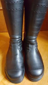 GERMAN ARMY FIRE DEPARTMENT JACK BOOTS KNOBELBECHER BLACK LEATHER US 13 EUR 305