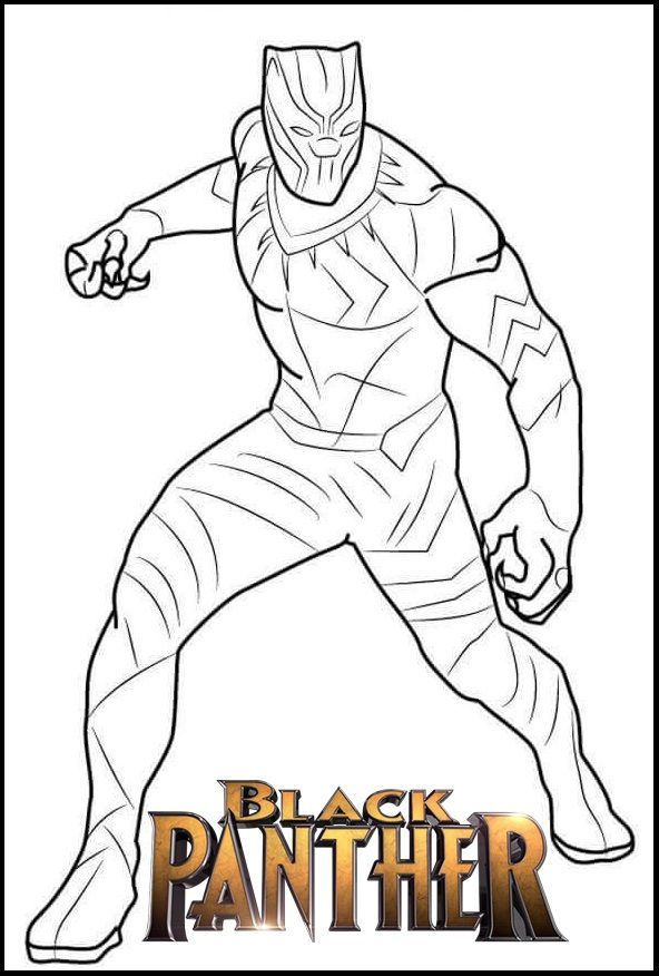 Black Panther Coloring Pages In 2020 Superhero Coloring Pages Avengers Coloring Pages Avengers Coloring