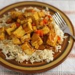 Tofu Curry with Cauliflower Rice