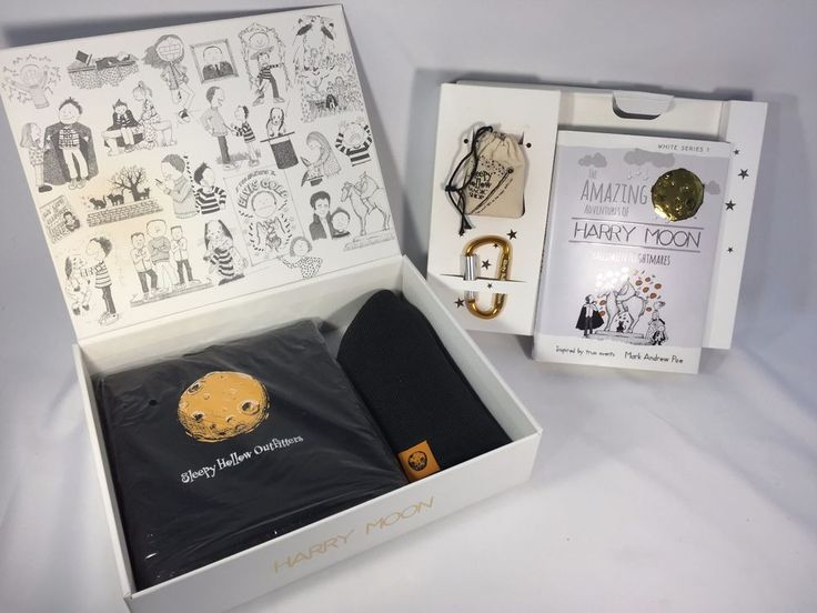 Harry Moon Gift Box Wand Paper Scissors Book Drawstring Backpack Knit Beanie #Notspecified