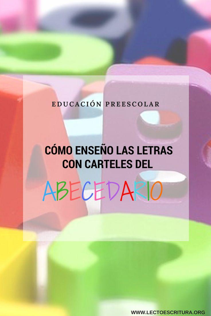 ¿Cómo enseño las letras con carteles del abecedario? Actividades para la enseñanza del abecedario. Enseñar a leer en lectoescritura.org