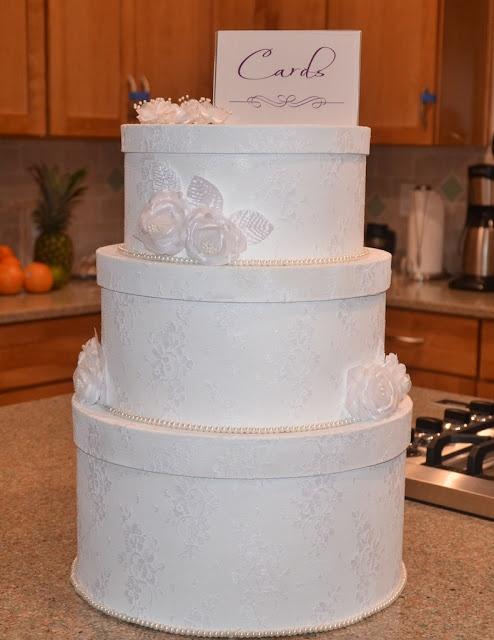 DIY wedding cake card box!