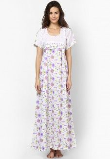 Purple Printed Nighty