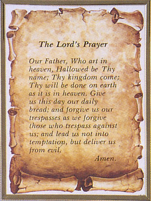 how to say the lords prayer