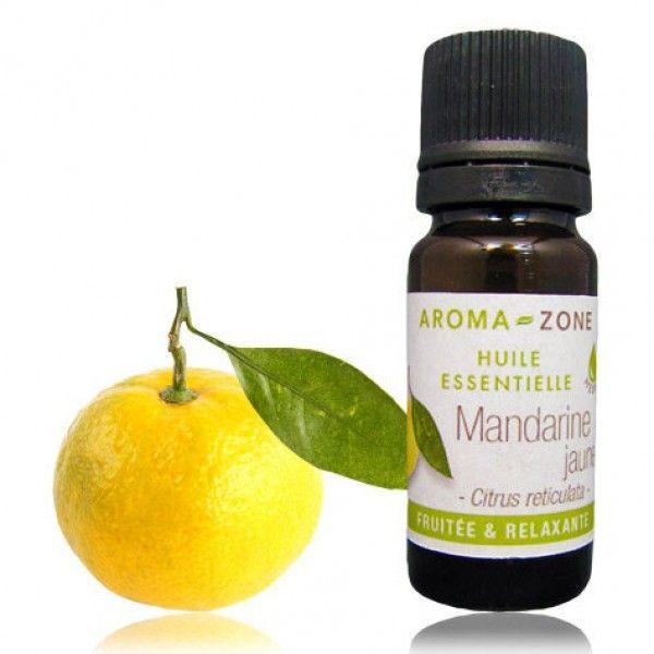 Huile essentielle Mandarine jaune Grande huile du système nerveux, cette huile est un puissant calmant et relaxant, intéressante pour éliminer le stress, les angoisses et pour un sommeil réparateur. Son parfum doux et floral est apprécié par les enfants