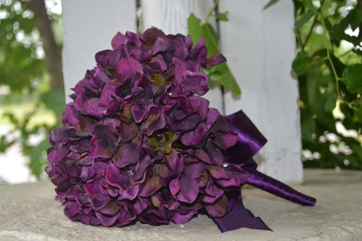 My Day Bouquet - Gorgeous Plum, Eggplant Colored Silk Bridesmaid or Toss Bouquet!