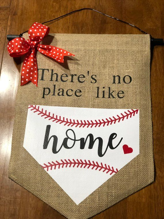 Burlap Baseball Flag / Door Hanger