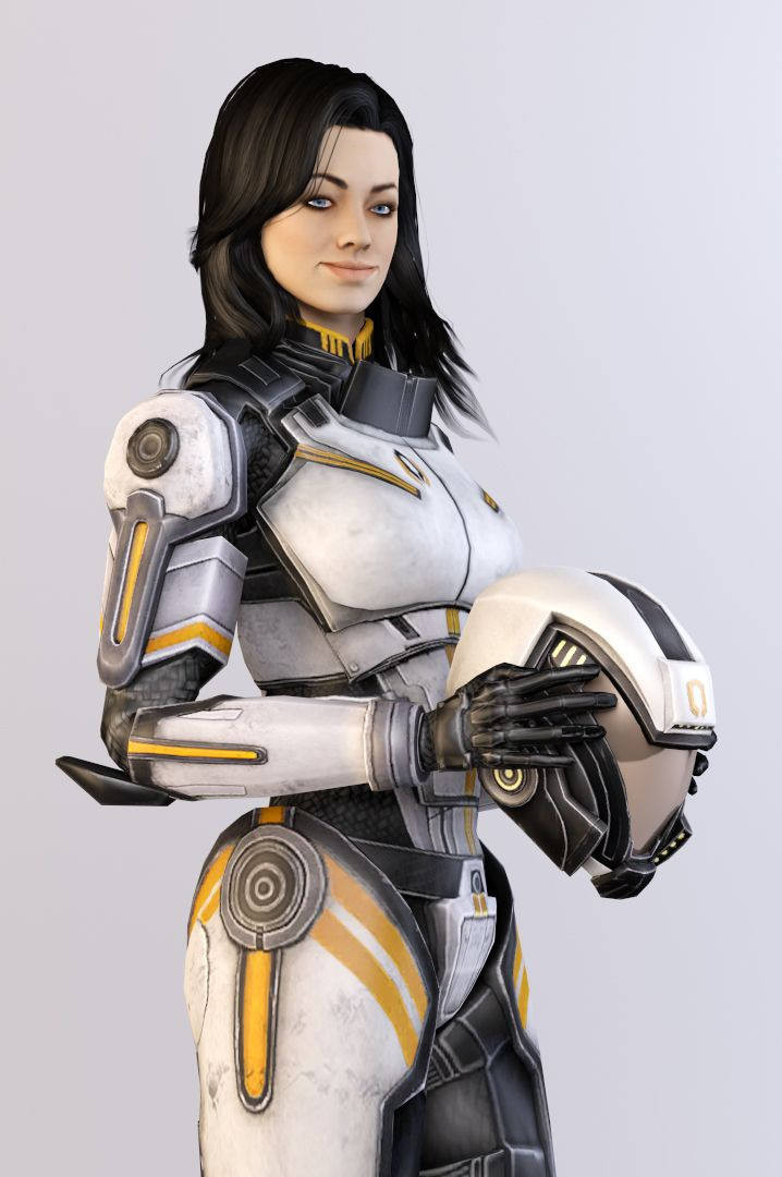 Finally!  At long last, Shepard managed to persuade Miranda to put on some decent apparel!