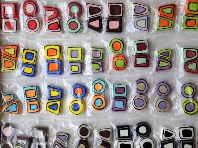 Art by Jen G: Handmade ceramic bead PAIRS.