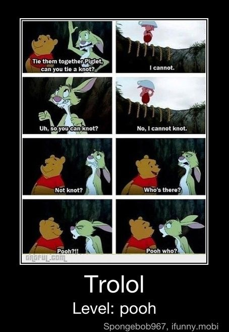Such miscommunications in the Hundred Acre Wood. :)
