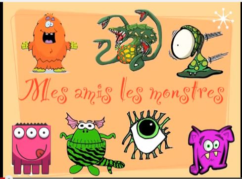 French adjectives describing monsters! Mes amis les monstres: en français (des adjectifs)