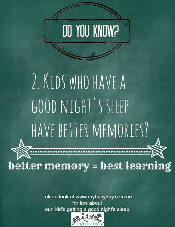 Good sleep boosts memory.