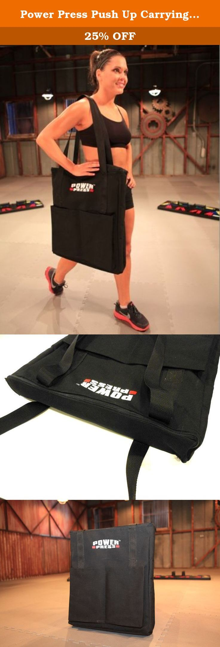 Power Press Push Up Carrying Bag (SALE). A Must Have for POWER PRESS PUSH UP Users! Store your Power Press Push Up in this convenient durable carrying/storage bag. This padded heavy duty nylon bag protects the boards and handles of your Power Press Push Up. The left and right boards slide conveniently in the bag, separated by a padded divider. The two hand grips have their own separate pockets, which are also padded so that they do not scratch the boards. Work out conveniently anywhere…
