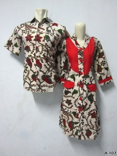 Batik Dress Couple A107 | IDR 135.000 | bahan : Katun | Size M, L, XL | Order : 081333303545