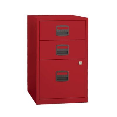 Varick Gallery Castaneda 3 Drawer Steel Home or Office Filing Cabinet Finish: Cardinal Red