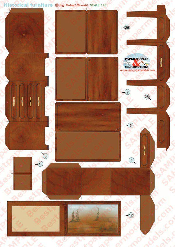 17 best images about my favourite paper furniture on pinterest furniture dollhouses and picasa - Paper furniture ...