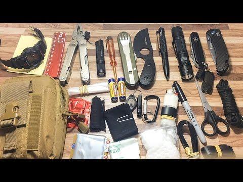 Meu EDC 2016 - Kit de sobrevivência diária (Everyday Carry Pocket Organi...